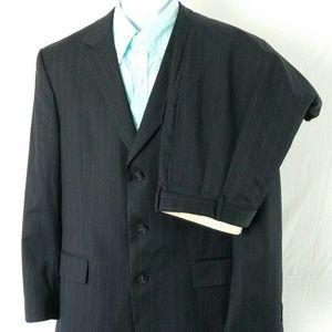 Other - Jos A Bank Men 2 Piece Suit-Black Pinstripe 41R/35